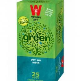 תה ירוק מרווה 25 כשרות הרב רובין