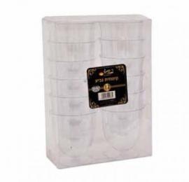 קינוחיות - כוסות קינוח גביע שקוף 12 יחידות ר.שמאי