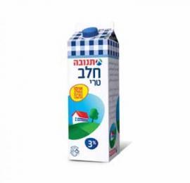 חלב תנובה בקרטון מבצע עד 3 יחידות מהדרין/בד