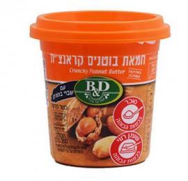 חמאת בוטנים קרנצ'ית 350 גרם בי אנד די