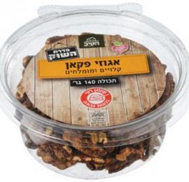 אגוזי פקאן קלויים ומומלחים 140 גרם הטיב בד