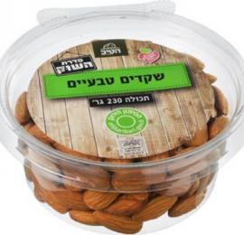 שקדים טבעיים קלופים 230 גרם הטיב בד