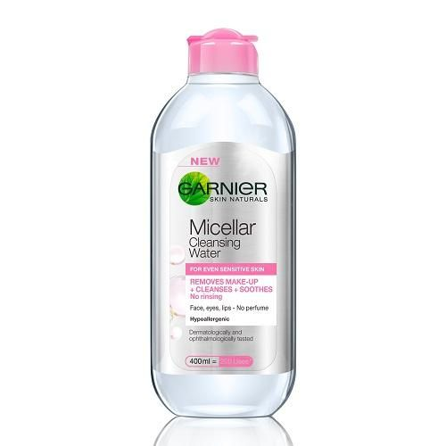 Garnier Micellar Water Face Eyes Lips Cleanser and Daily Make-up Remover, 400ml