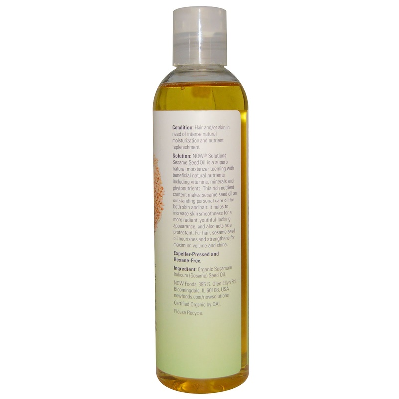 Now Solutions Sesame Seed Oil for Skin and Hair